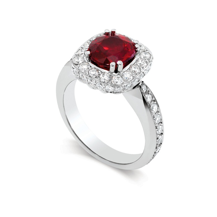 Ruby-and-diamond Ring   Gorgeous!
