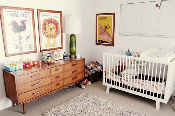 gorgeous mid-century nursery from thestorkandthebeanstalk.com