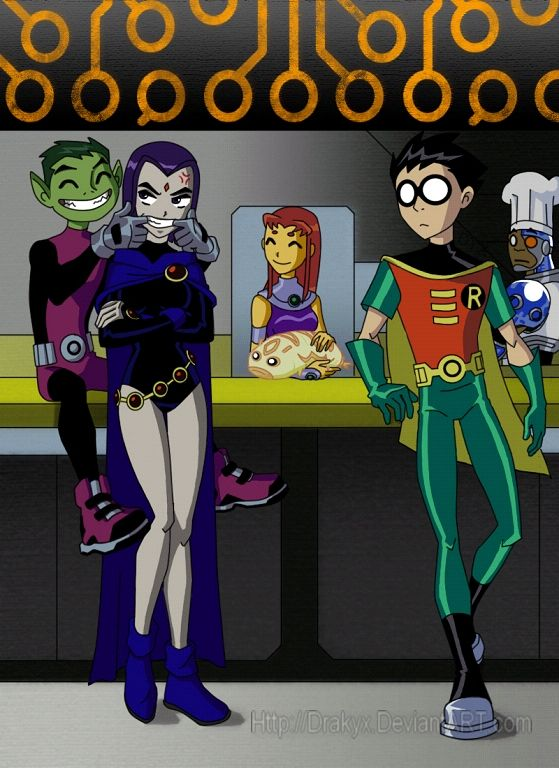 Beast Boy flirting with Raven.This was before Terra ruined him.<-------------- I am only repinning because HE KNOWS... He actually read those comics... I can remember beast boys inner turmoil... All hail.
