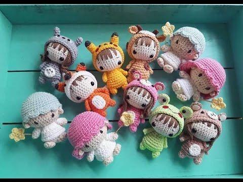 LLaveros en Crochet - Tecnica Amigurumi - YouTube
