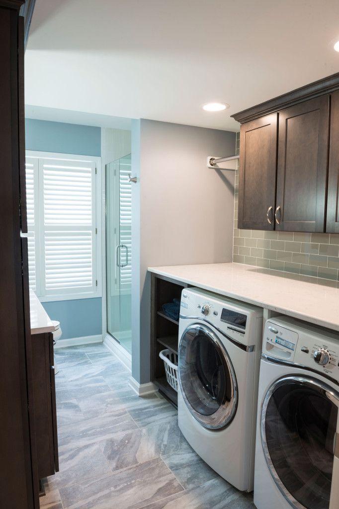 Converting A Main Level Powder Bath To A Full Bath Laundry Room Bathroom Laundry In Bathroom Laundry Bathroom Combo