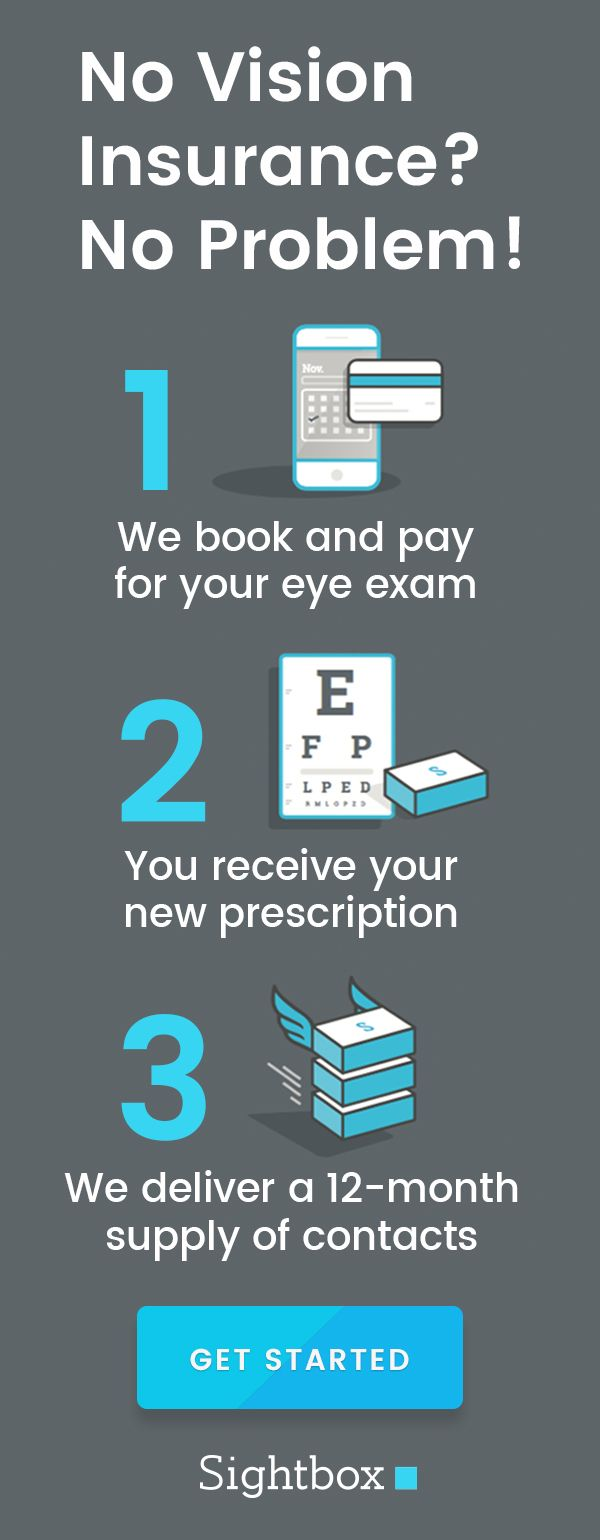 Wear contacts? We book and pay for your eye exam, then deliver a 12-month supply of contact lenses. Color and astigmatism lenses included!
