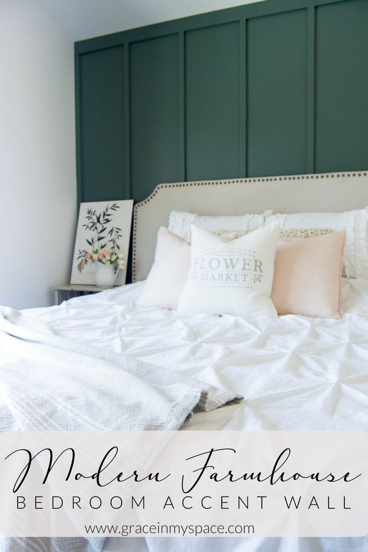 Modern Farmhouse Bedroom Accent Wall Master Bedroom Makeover Accent Wall Bedroom Master Bedrooms Decor Bedroom Makeover Before And After