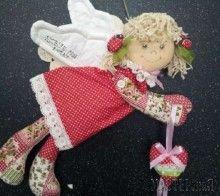 Текстильный ангел Девочка с сердечком