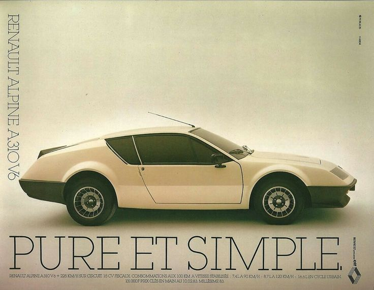 Pure & simple - Renault Alpine A310V6