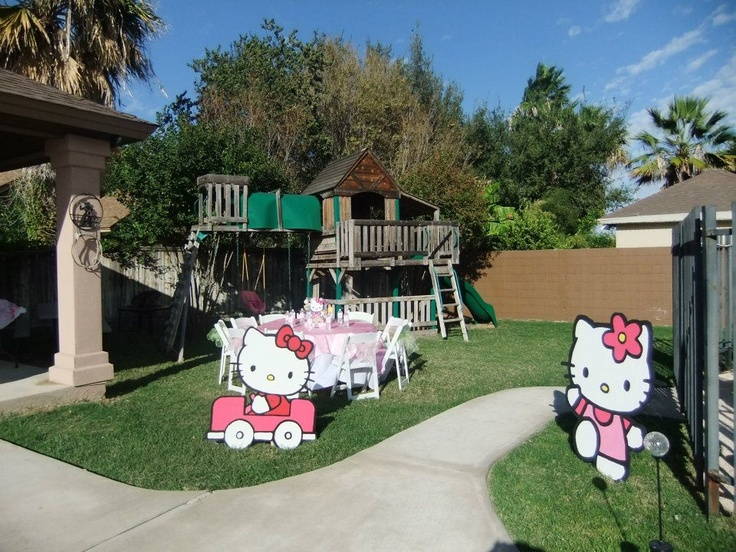 How to make life size party props! Hello Kitty Props