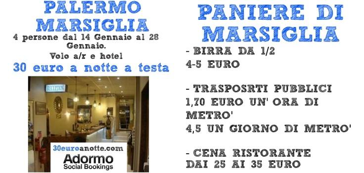 MARSIGLIA CAPITALE EUROPEA DELLA CULTURA DEL 2013! Volo da Palermo a/r e Hotel per 4 persone. 30 Euro a notte a testa!