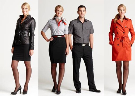 Banana Republic uniforms for Virgin America Airline chic?  What do you think? #Fashion #Uniform