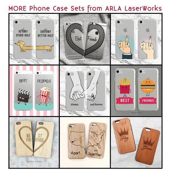 Am besten Sie Freund Handytasche, iPhone 8 + Gehäuse, Samsung Galaxy S8 Fall, iPhone 7 S9 paar Handytasche, klarer Fall, TPU, Set von zwei BFF Geschenke