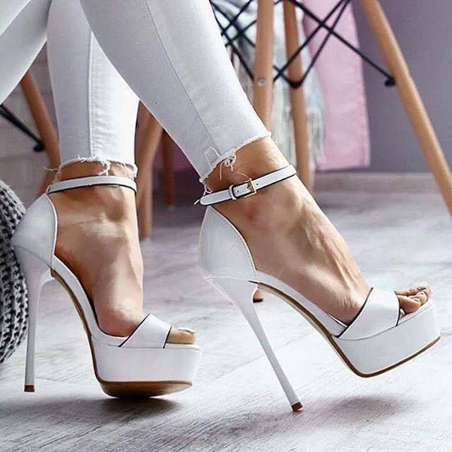 Pumps & High Heels for Women On Sale, Metallic Azure, Leather, 2017, 3.5 4.5 5.5 7.5 Essentiel