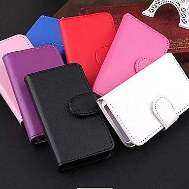 EUR € 4.79 - df® glatte ansigt mønster pu læder hele kroppen tilfældet for iPhone 4 / 4S (assorterede farver), Gratis Fragt På Alle Gadgets!