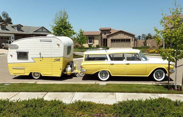 Shasta Canned Ham Vintage Travel Trailer Camper