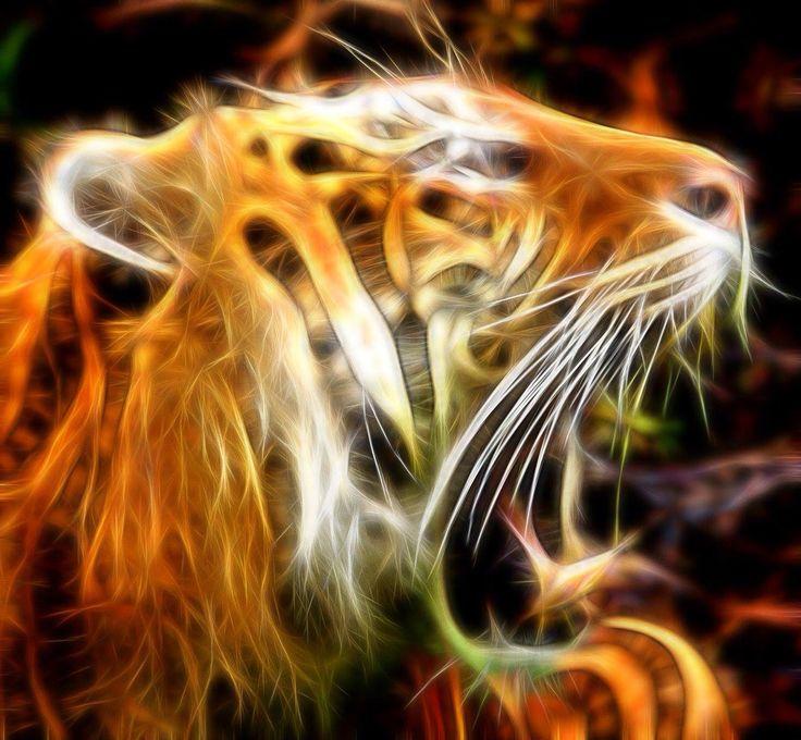 #fractalius #photoshop Hear this tiger roar