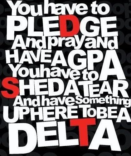 What it takes to be a Delta. You don't just walk in.