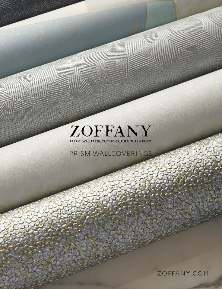 PRISM WALLCOVERINGS AUTUMN 2014 Zoffany have made a name for themselves with their designer range of fabulous, textural, vinyl wallcoverings which have an aesthetic very much suited to contemporary, chic, urban living. For the Prism collection, the studio have developed new embosses with multi-directional light reflective qualities.