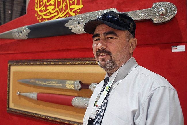 How could I know I'd meet the man who hand crafted the world's longest #sword and largest #dagger? A man who might just be the world's most humble, too. Hareth Al Bustani