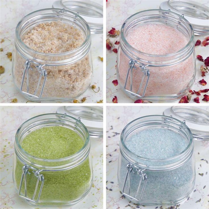 Bath Soaks 4 Ways // #bathsoaks #sugarscrub #selfcare #diy