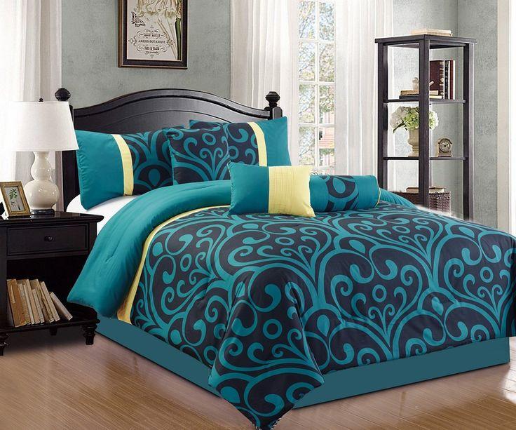 17 best ideas about teal bedding sets on pinterest teal bedding teal bed covers and teal and. Black Bedroom Furniture Sets. Home Design Ideas