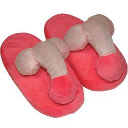 Pantofole pene rosa