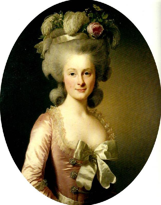 Madame Marie Thérèse Louise de LAMBALLE... son massacre  (portrait par Mme Vigée Le Brun)