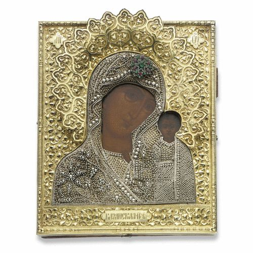 a russian icon of the kazan mother of god, 19th century | lot | Sotheby's