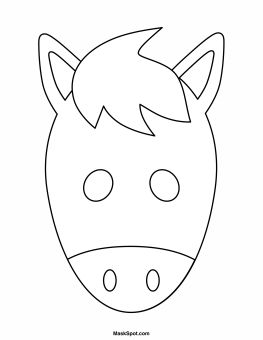Printable Horse Mask to Color