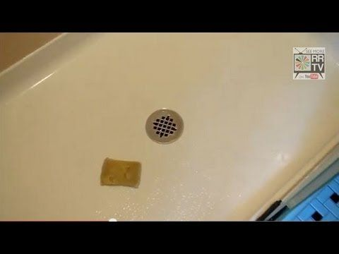 How To Clean A Fiberglass Shower Base    This Product Works Great! How To  Clean Dirty Stained Fiberglass Tub A Great Fixer Upper Or Shower Enclosure  ...
