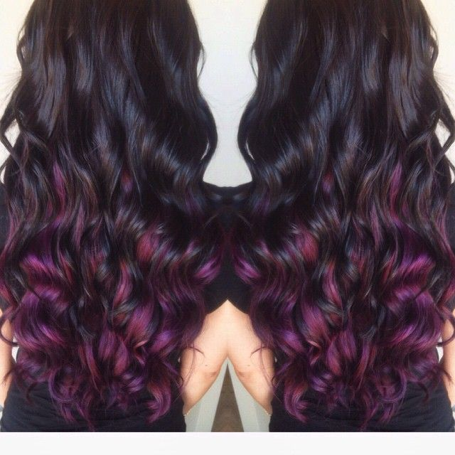 Dark Brown with Pravana Purple Underneath