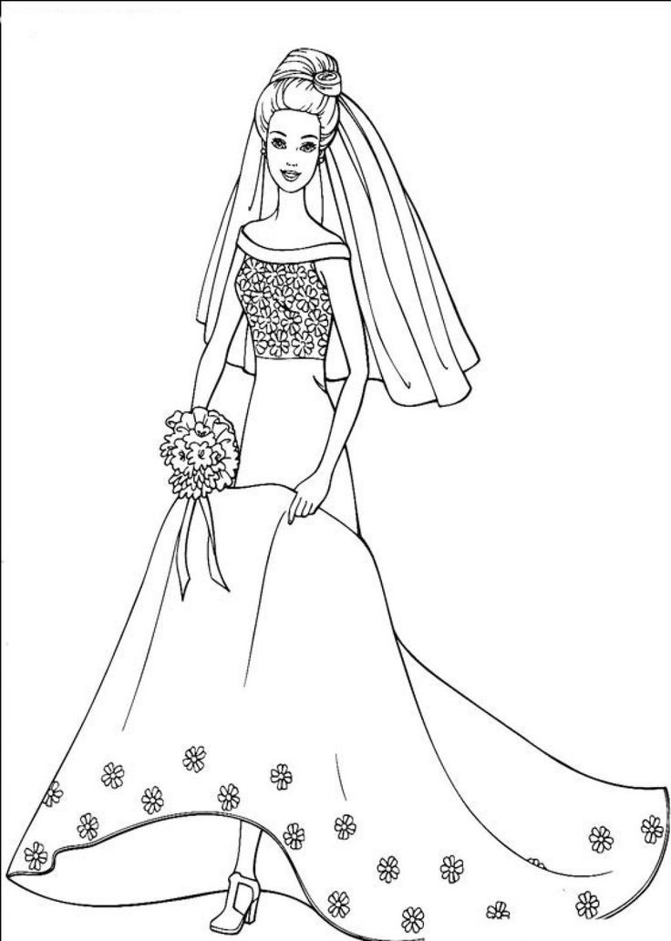 500 best People Coloring Pages images on Pinterest Barbie