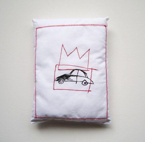 Basquiat graffiti scultura arte pop regalo Natale compleanno laurea uomo donna collezione arte cuscino decorazione casa regalo corona arte