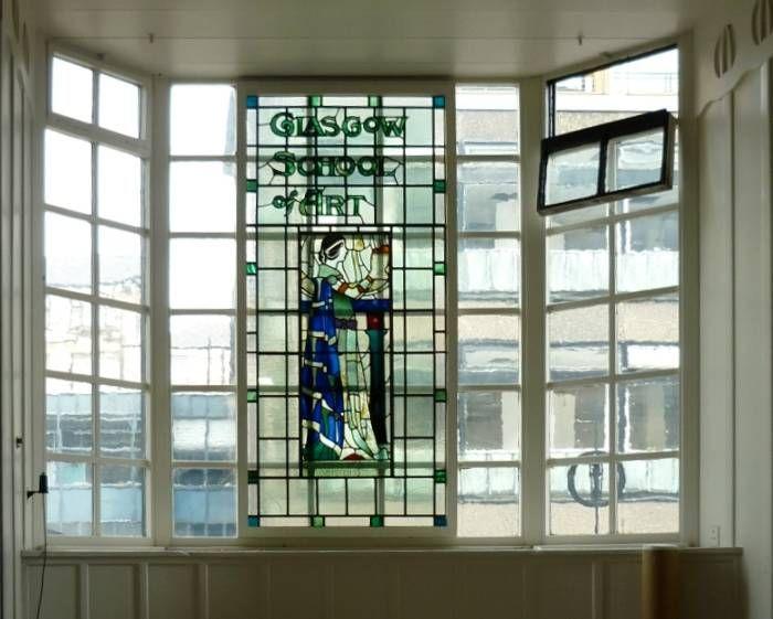 Glasgow School of Art - window above reception (interior)  - (http://www.victorianweb.org/art/architecture/mackintosh/1e.html)