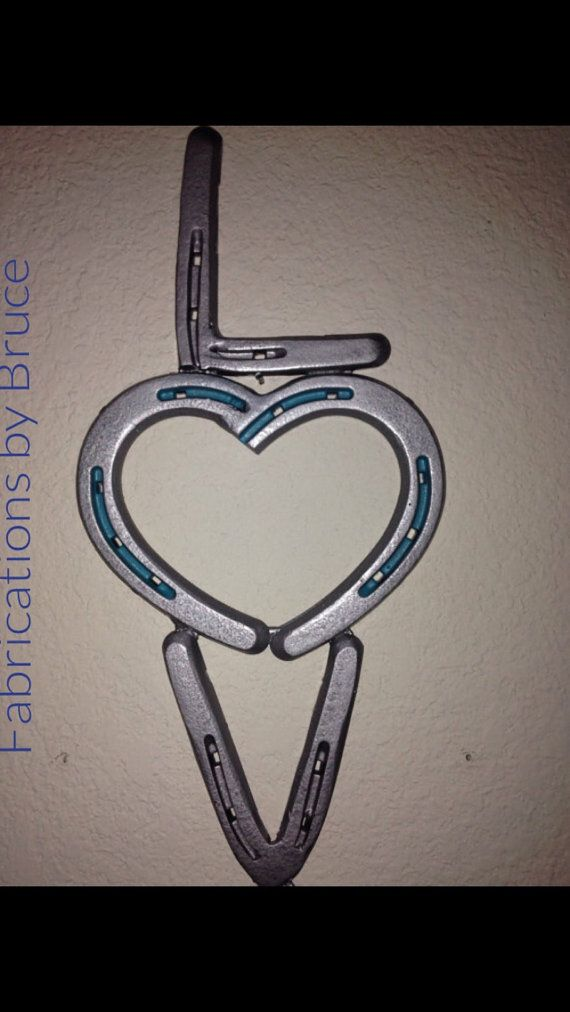 horse shoe love wall art by on etsy