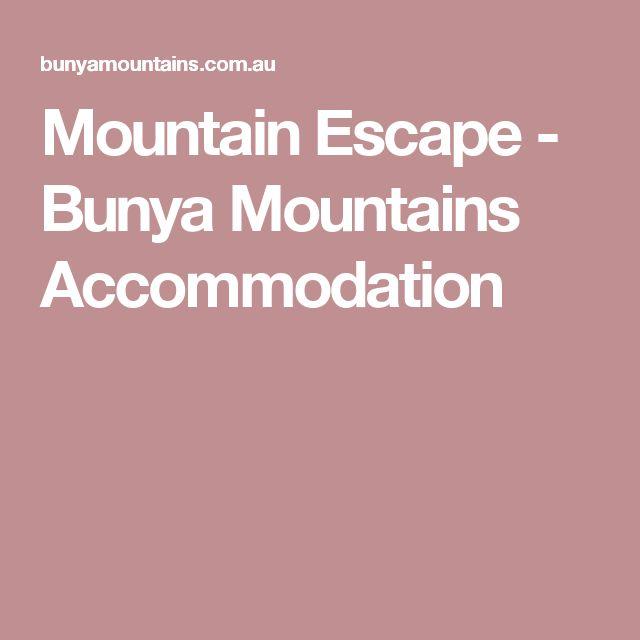 Mountain Escape - Bunya Mountains Accommodation