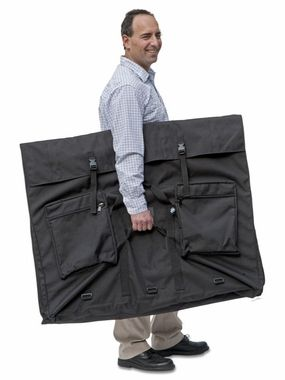 "37""x49""x6"" OVERSIZED Expandable Art Portfolio Case. Great for large exhibits, posters, signage and more. 36""x48"" items fit perfectly. Expands to six inches of depth. Add your own stiffeners (foam board recommended). http://www.portfolios-and-art-cases.com/xp-3749.html"