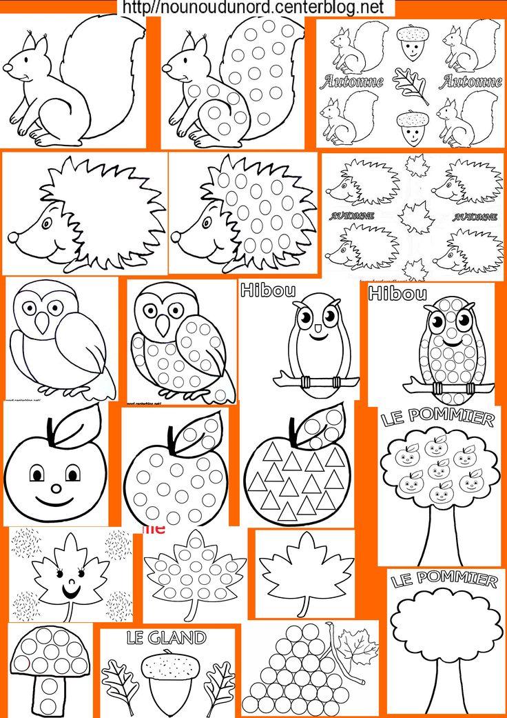 Les coloriages d'automne que vous trouverez en parcourant ma rubrique sur le lien