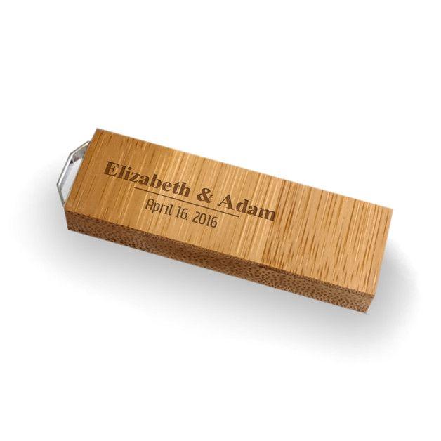 USB-Sticks - USB stick hochzeit mit gravur | Holz 32GB USB 3.0 - ein Designerstück von ZaNa-Design bei DaWanda