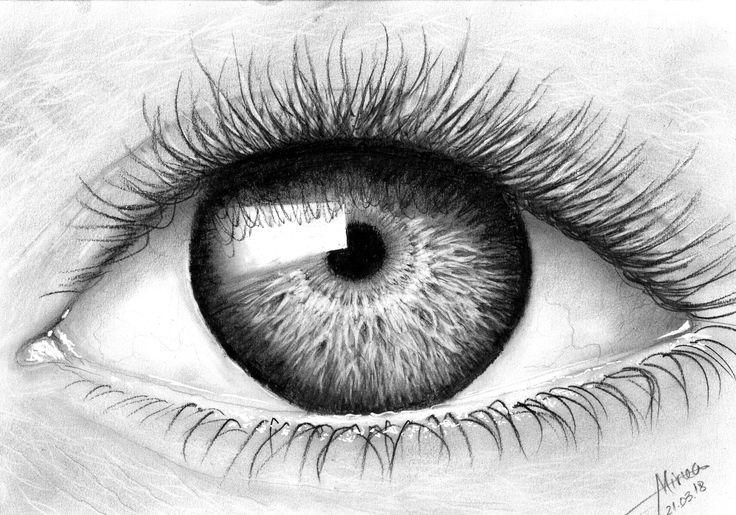 """""""Eye light"""" charcoal by Mircea Craciunel."""
