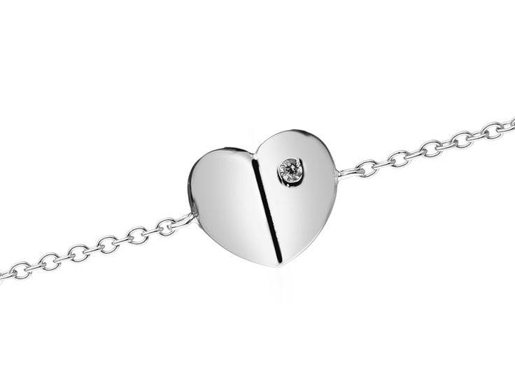 Bransoleta srebrna z cyrkonią | Apart