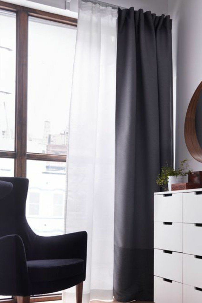 25 best ideas about rideau voilage blanc on pinterest voilage blanc rideaux voilages and. Black Bedroom Furniture Sets. Home Design Ideas