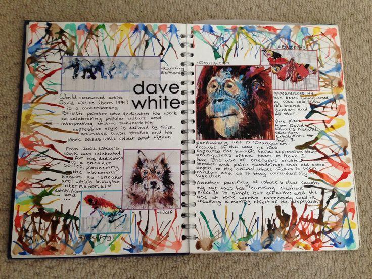 22.10.14 GCSE David White artist research page