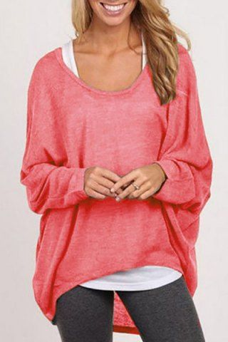 Stylish Scoop Neck Long Sleeve Pure Color Women's SweaterSweaters & Cardigans | RoseGal.com