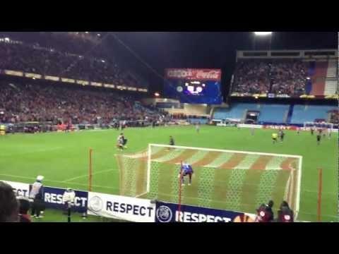 Desde la tribuna! Atletico de Madrid - Valencia (Golazo de @Luiz Falcao y locura en el Frente Atlético)