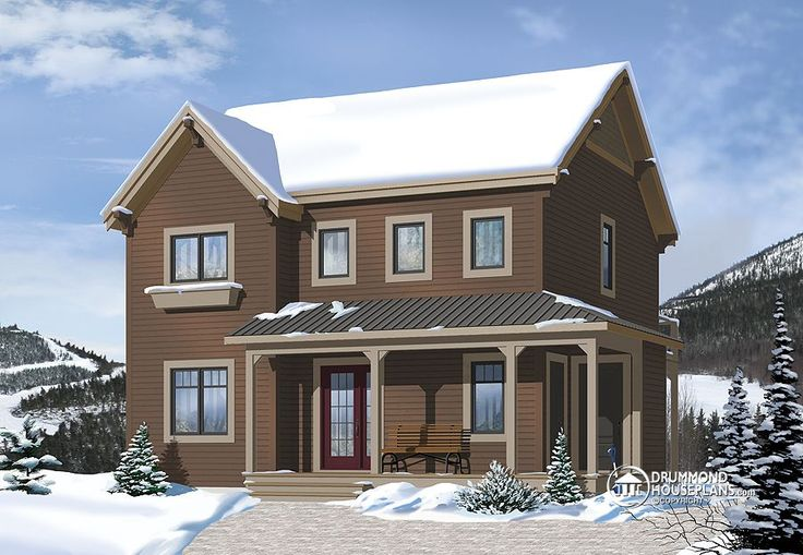 Drummond house plan beautiful ski chalet plan number for Ski house plans