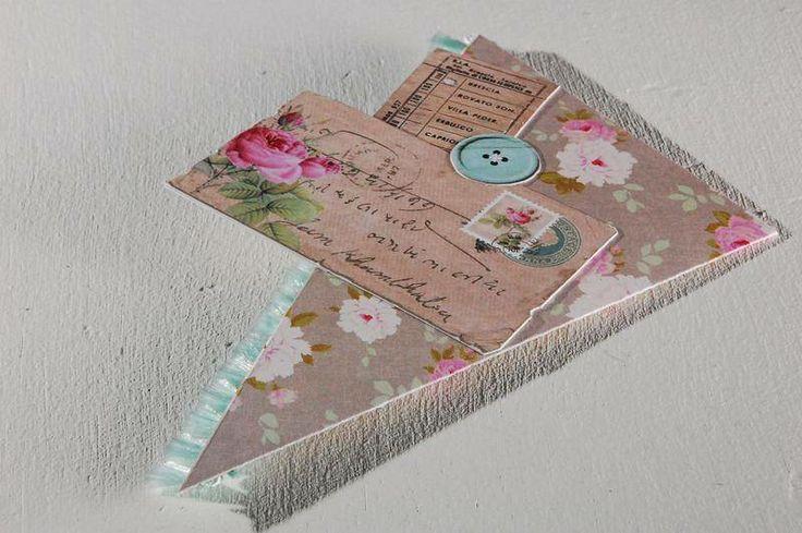 marque page d 39 angle fleuri romantique marque page mizudake fait maison amour des livres. Black Bedroom Furniture Sets. Home Design Ideas