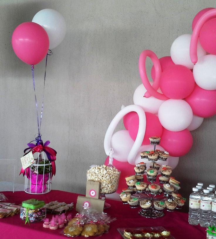 12 best pink and white party images on pinterest - Decoracion bautizo nina ...