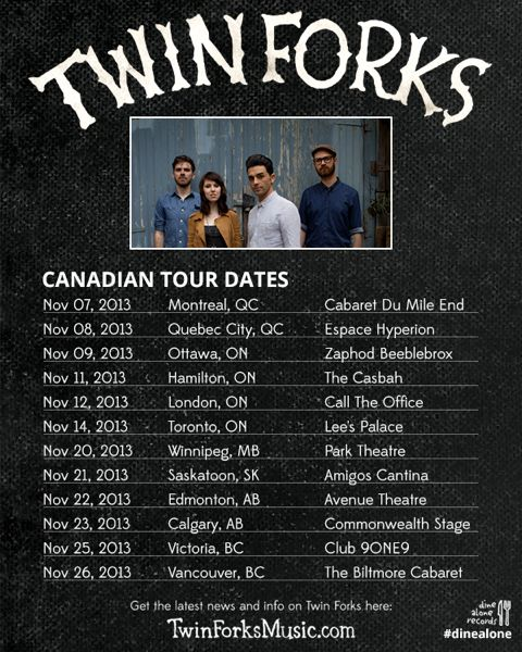 Catch TWIN FORK on tour!