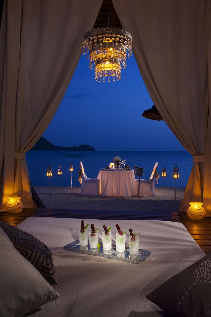 Private dinner just for two #sandalsgrandestlucian | Sandals Resorts | St. Lucia