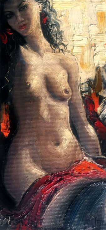 Buy Nude (13x28 cm), Oil painting by Mher Evoyan on Artfinder. Discover thousands of other original paintings, prints, sculptures and photography from independent artists.