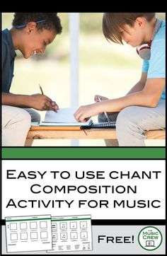 A Free Chant Composition Activity and template for Elementary Music Lessons.