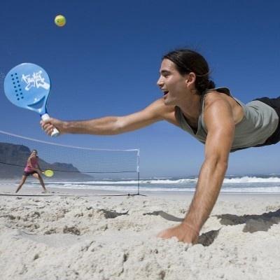 Beach Tennis Action!